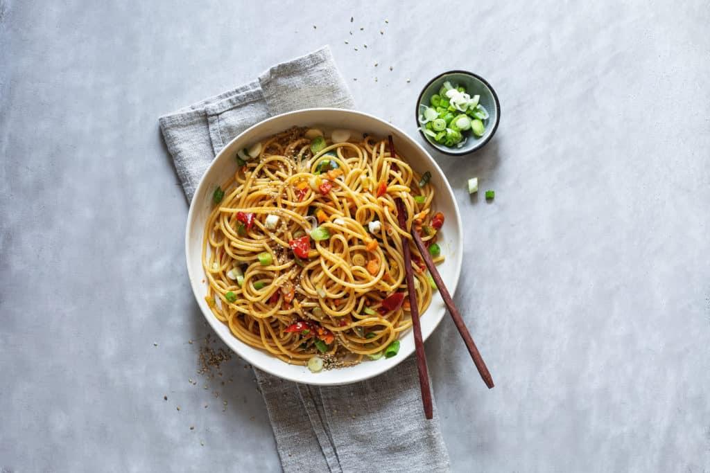 Asiatischer Spaghettisalat mit dem Thermomix® - Foto: Anna Gieseler