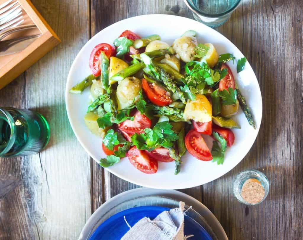 Kartoffelsalat mit Spargel mit dem Thermomix® –Foto: Ira Leoni
