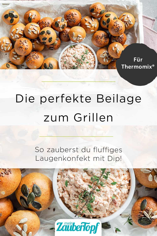 Laugenkonfekt mit Frischkäsedip mit dem Thermomix® - Foto: Anna Gieseler