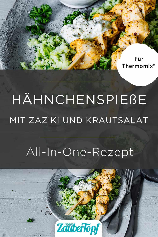 Hähnchenspieße mit Zaziki und Krautsalat mit dem Thermomix® - Foto: Tina Bumann