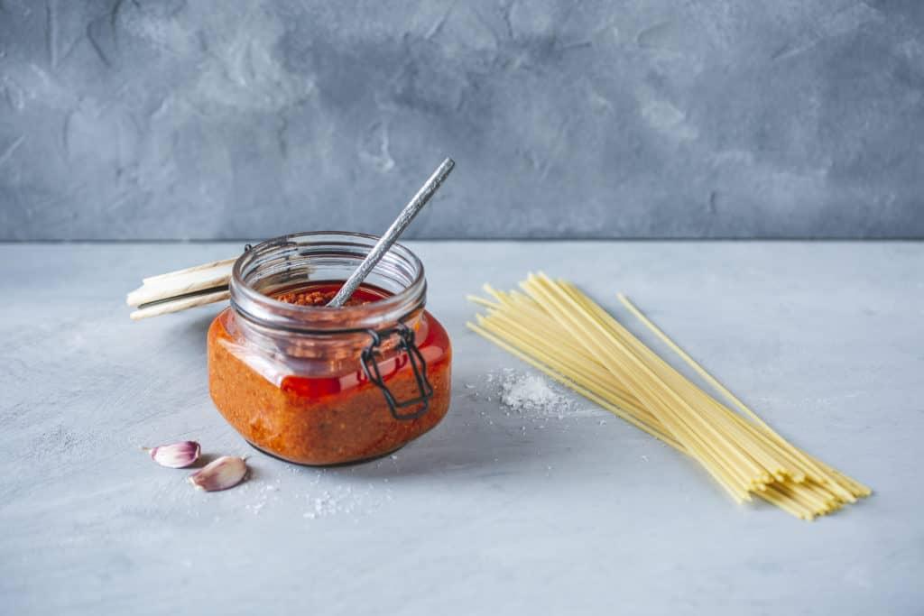 Pesto Rosso aus dem Thermomix® - Foto: Anna Gieseler