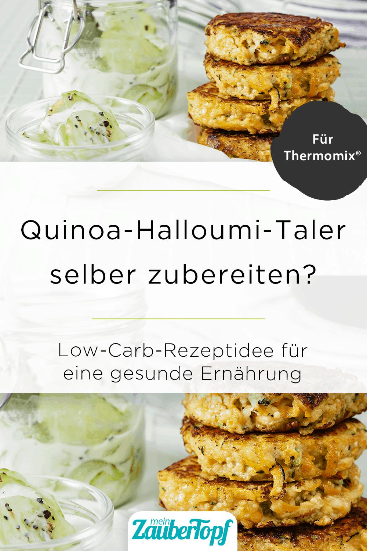 Quinoa-Halloumi-Taler mit Gurkensalat aus dem Thermomix® - Foto: © StockFood / Gräfe & Unzer Verlag / Juni
