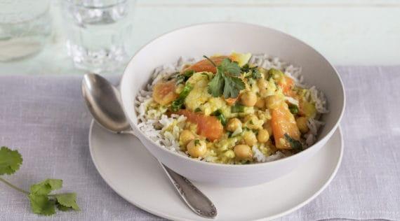 Kichererbsen-Curry mit Reis aus dem Thermomix® - Foto: Kathrin Knoll
