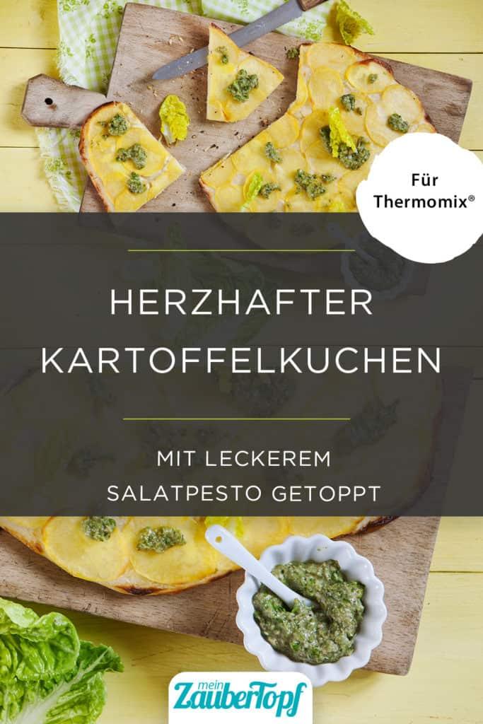 Kartoffelkuchen mit Salatpesto mit dem Thermomix® - Foto: Frauke Antholz